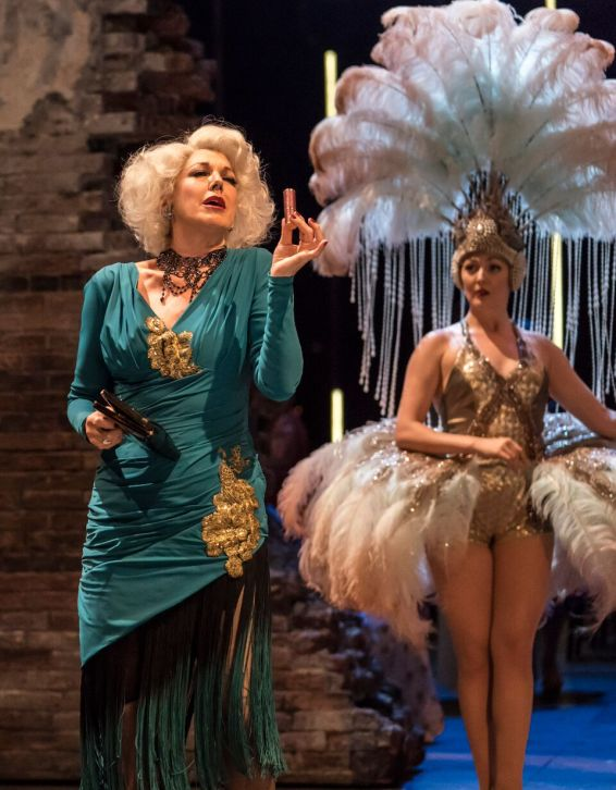Geraldine Fitzgerald as Solange LaFitte and Sarah Marie Maxwell as Young Solange in FOLLIES at the National Theatre (c) Johan Persson