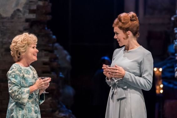 Imelda Staunton as Sally Durant Plummer and Janie Dee as Phyllis Rogers Stone in FOLLIES at the National Theatre (c) Johan Persson