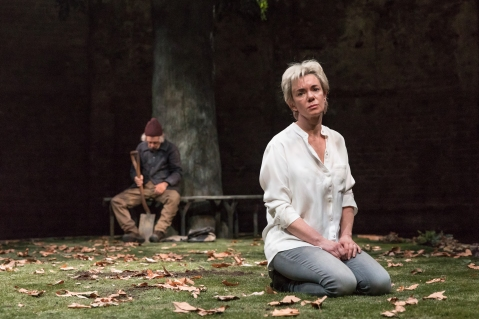 Albion production shots. Christopher Fairbank (Matthew) and Victoria Hamilton (Audrey Walters). Photo credit Marc Brenner (8)