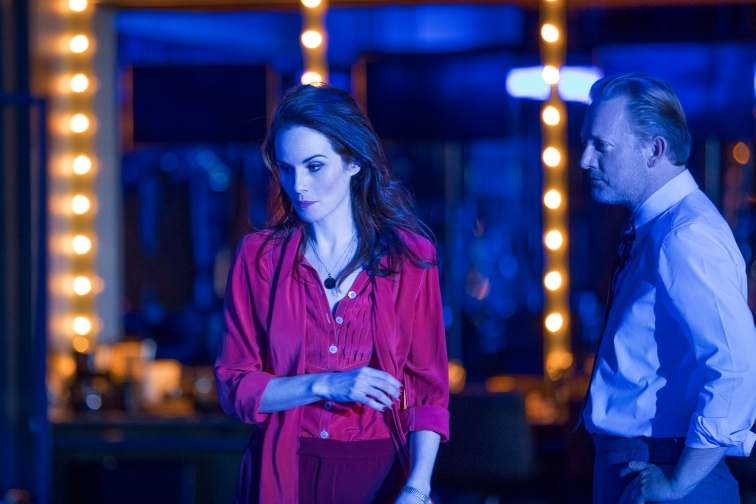 Michelle Dockery and Douglas Henshall in Network. Image by Jan Versweyveld