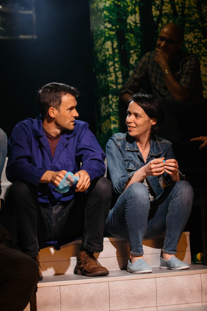 Suzy Storck at the Gate Theatre. Caoilfhionn Dunne (Suzy) and Jonah Russell (Hans) Photo by Helen Murray