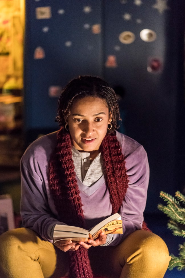 GRIMLY HANDSOME by Jarcho ; Directed by Sam Pritchard ; Designed by Chloe Bamford ; at the Royal Court Theatre, London, UK ; 6 December 2017 ; Credit : Johan Persson / ArenaPAL ; www.arenapal.com