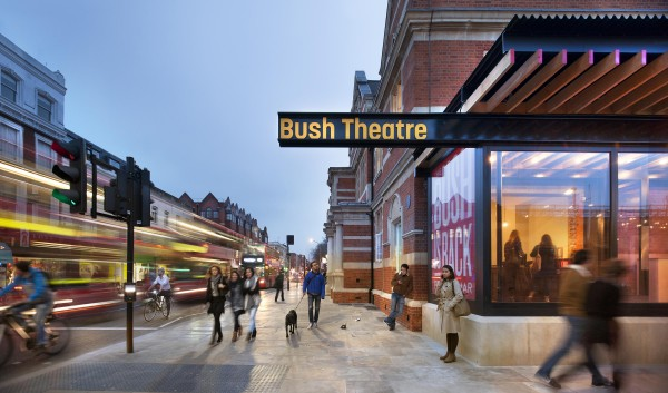 East-exterior-view-down-Uxbridge-Road.-Bush-Theatre-reopens.-mid-res-600x353